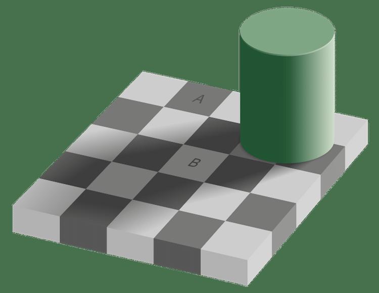 optik illüzyon aynı renk