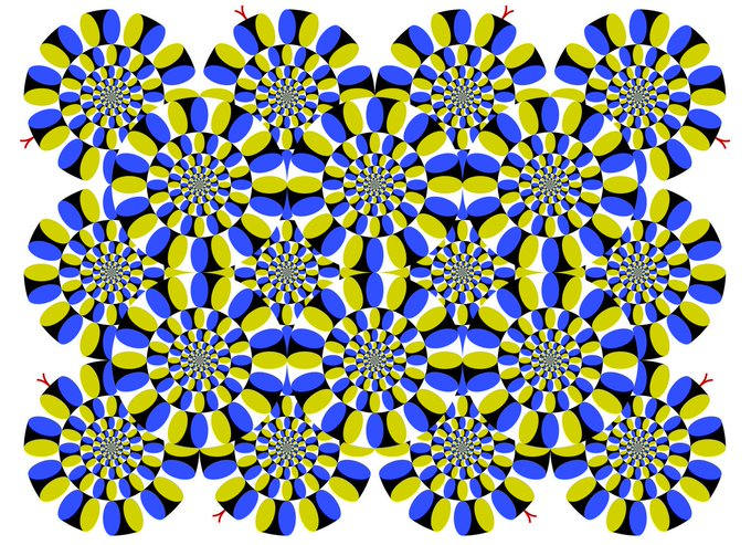 optik illüzyon dönüyor