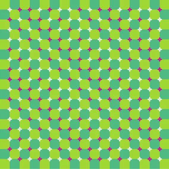 optik illüzyon hareketsiz