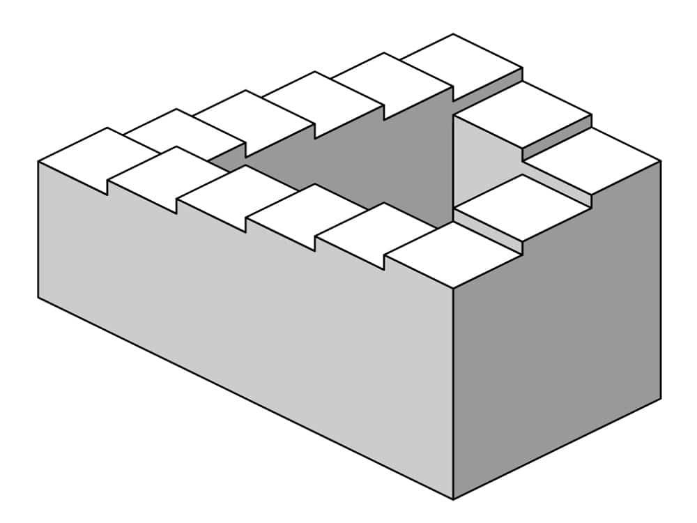 optik illüzyon imkansiz merdiven